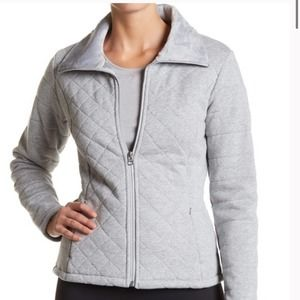 THE NORTH FACE Small Gray Caroluna Crop Jacket quilted fabric pockets